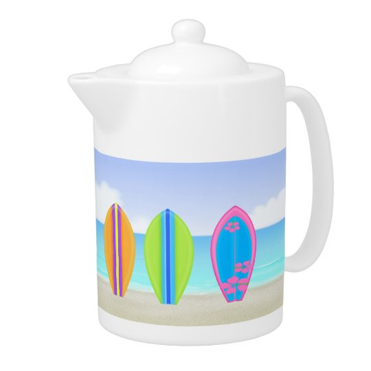 Surfboards Beach 2 Tea Pot