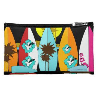 Surfboards Beach Bum Surfing Hippie Vans Makeup Bags