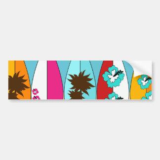 Surfboards Beach Bum Surfing Hippie Vans Bumper Sticker