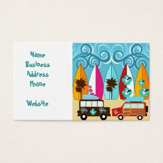 Surfboards Beach Bum Surfing Hippie Vans Business Card