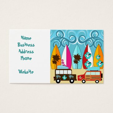 Professional Business Surfboards Beach Bum Surfing Hippie Vans Business Card