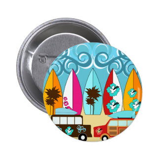 Surfboards Beach Bum Surfing Hippie Vans Pin