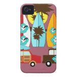 Surfboards Beach Bum Surfing Hippie Vans iPhone 4 Case-Mate Cases