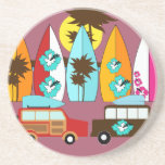 Surfboards Beach Bum Surfing Hippie Vans Coaster