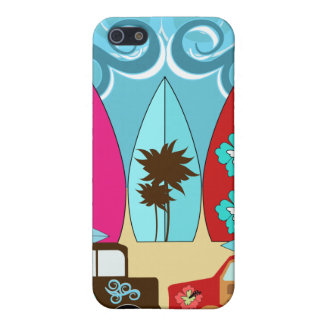 Surfboards Beach Bum Surfing Hippie Vans Cover For iPhone SE/5/5s