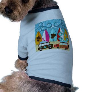 Surfboards Beach Bum Surfing Hippie Vans Dog Tee