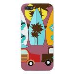 Surfboards Beach Bum Surfing Hippie Vans iPhone 5 Case