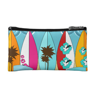 Surfboards Beach Bum Surfing Hippie Vans Makeup Bag