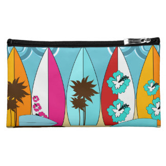 Surfboards Beach Bum Surfing Hippie Vans Makeup Bag