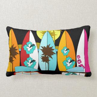 Surfboards Beach Bum Surfing Hippie Vans Pillow