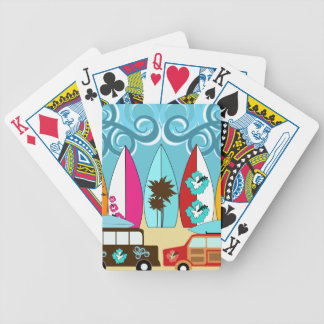 Surfboards Beach Bum Surfing Hippie Vans Poker Cards