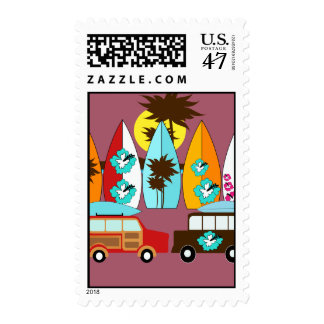 Surfboards Beach Bum Surfing Hippie Vans Postage