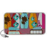 Surfboards Beach Bum Surfing Hippie Vans Notebook Speaker