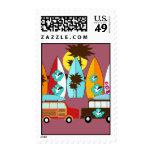 Surfboards Beach Bum Surfing Hippie Vans Stamps