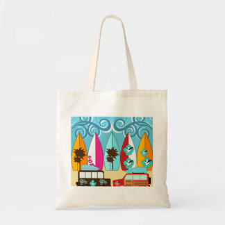 Surfboards Beach Bum Surfing Hippie Vans Tote Bag