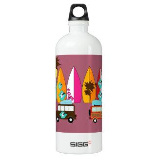 Surfboards Beach Bum Surfing Hippie Vans Water Bottle