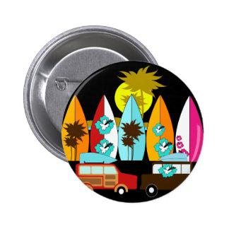 Surfboards Beach Bum Surfing Surfer Hippie Vans Pin