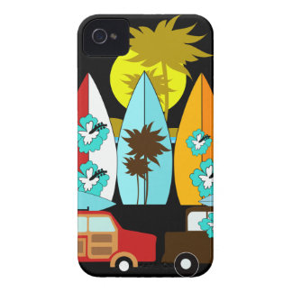 Surfboards Beach Bum Surfing Surfer Hippie Vans iPhone 4 Case