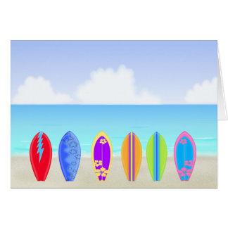 Surfboards Beach Greeting Card