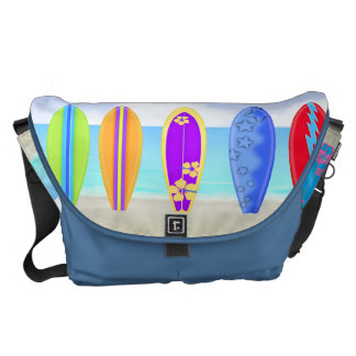 Surfboards Beach Messenger Bag