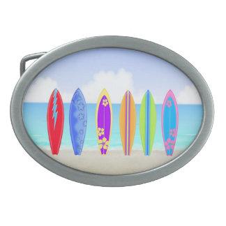 Surfboards Beach Oval Belt Buckle