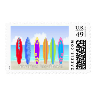 Surfboards Beach Postage Stamps