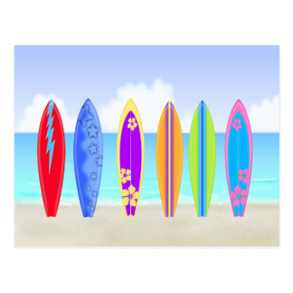 Surfboards Beach Postcard