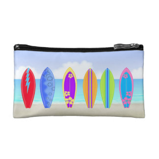 Surfboards Beach Small Cosmetic Bag