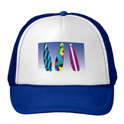 SURFBOARDS colorful surfing fun summer sports Trucker Hats