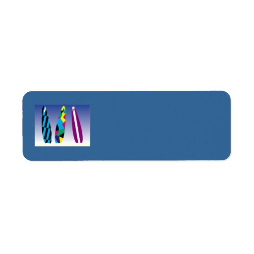 SURFBOARDS colorful surfing fun summer sports Custom Return Address Label