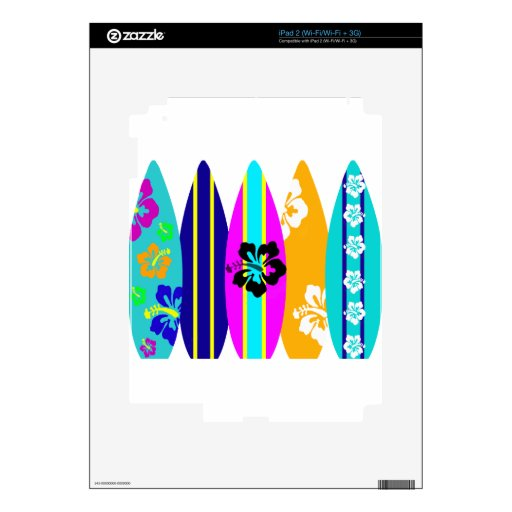 Surfboards Decal For iPad 2