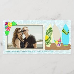 Hawaiian christmas cards zazzle surfboards hawaiian christmas holiday card m4hsunfo