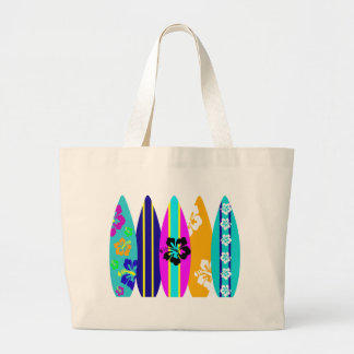 Surfboards Large Tote Bag