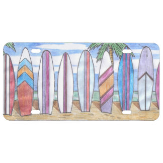 SURFBOARDS license plate