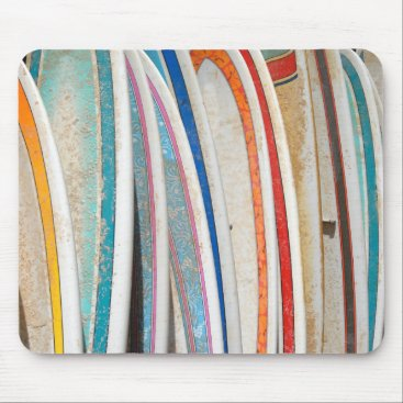 Ocean Themed Surfboards Mouse Pad