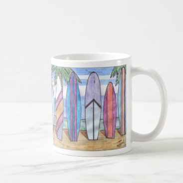 Beach Themed SURFBOARDS mug