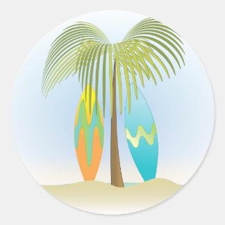 Surfboards No.1 Classic Round Sticker