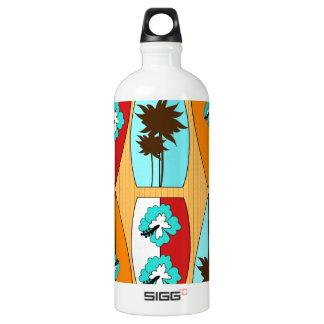 Surfboards on the Boardwalk Summer Beach Theme Aluminum Water Bottle