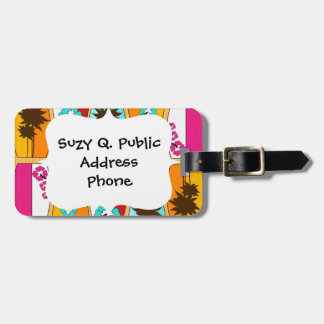 Surfboards on the Boardwalk Summer Beach Theme Bag Tag