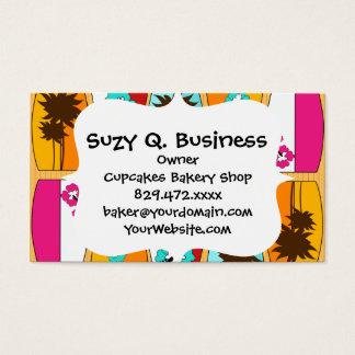Surfboards on the Boardwalk Summer Beach Theme Business Card