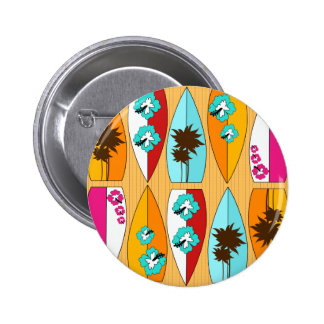 Surfboards on the Boardwalk Summer Beach Theme Pinback Buttons