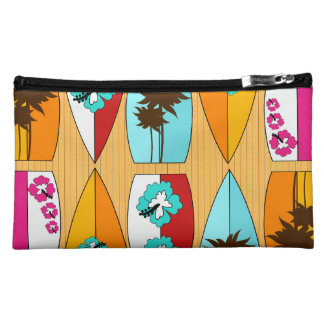 Surfboards on the Boardwalk Summer Beach Theme Cosmetic Bag