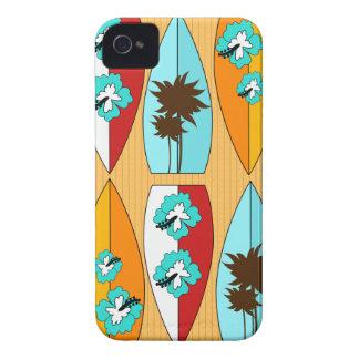 Surfboards on the Boardwalk Summer Beach Theme iPhone 4 Case
