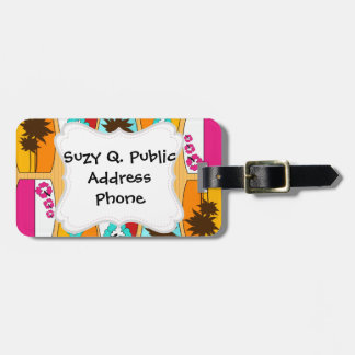 Surfboards on the Boardwalk Summer Beach Theme Tag For Bags