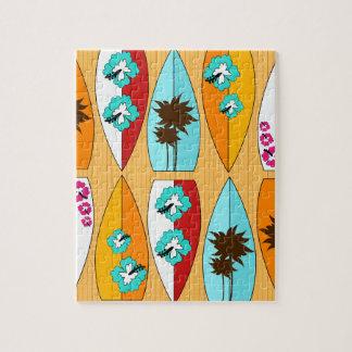 Surfboards on the Boardwalk Summer Beach Theme Jigsaw Puzzles