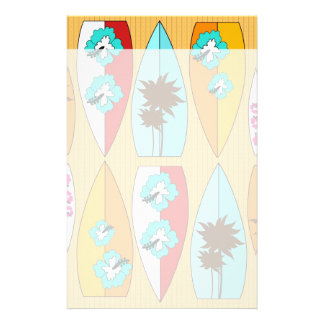 Surfboards on the Boardwalk Summer Beach Theme Customized Stationery
