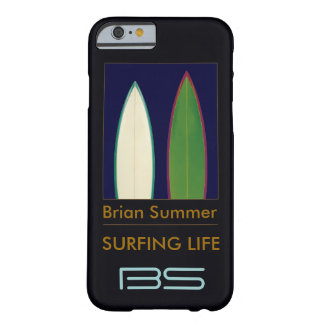 surfboards personalized surf-themed barely there iPhone 6 case