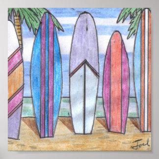 "SURFBOARDS print (7.33""x7.33"")"