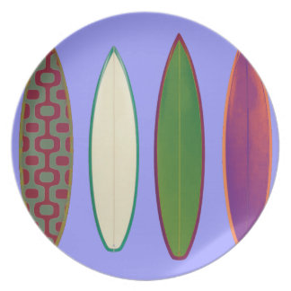 surfboards  ~ surfing style melamine plate