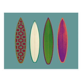 surfboards  ~ surfing style postcard